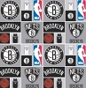 Cotton Brooklyn Nets NBA Pro Basketball Sports Team Cotton Fabric Print
