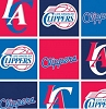 Fleece Los Angeles Clippers NBA Pro Basketball Sports Team Fleece Fabric Print by the Yard (s83lac0006ac)