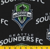 Fleece Fleece Seattle Sounders FC MLS Major League Soccer Fleece Fabric Print by the Yard