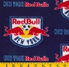 Fleece NY New York Red Bull Bulls MLS Major League Soccer Fleece Fabric Print