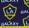 Fleece LA Los Angeles Galaxy MLS Major League Soccer Fleece Fabric Print