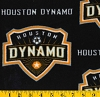 Fleece Houston Dynamo MLS Major League Soccer Fleece Fabric Print