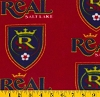 Fleece Real Salt Lake Royals MLS Major League Soccer Fleece Fabric Print