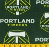 Fleece Portland Timbers MLS Major League Soccer Fleece Fabric Print by the Yard