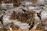 Fleece (not for masks) Realtree Camo Ducks Fish Geese Hunting Wildlife Water Marsh Camouflage Fleece Fabric Print by the Yard (1455s)