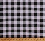 Flannel Black and White Buffalo Plaid 1