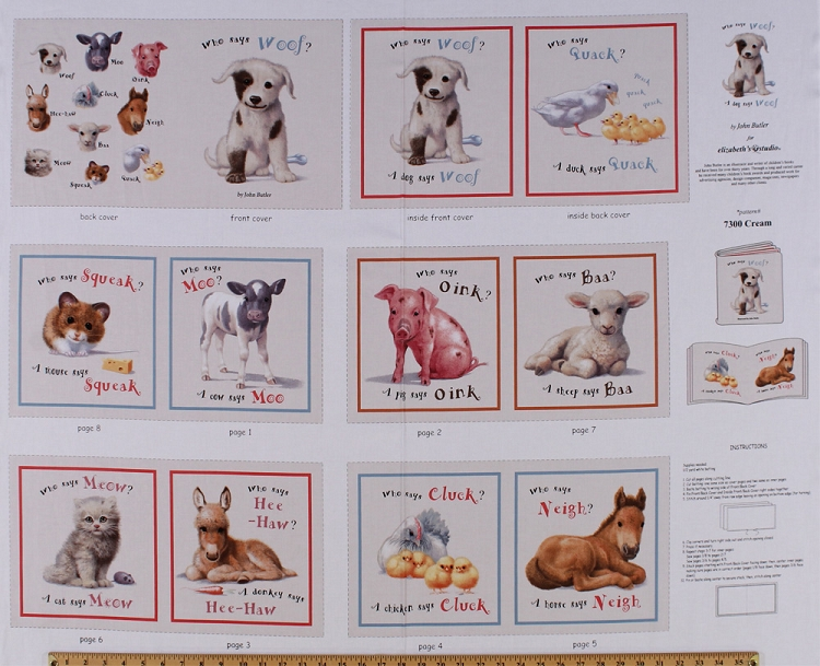 35 Quot X 44 Quot Panel Animal Friends Quot Who Says Woof Quot Baby