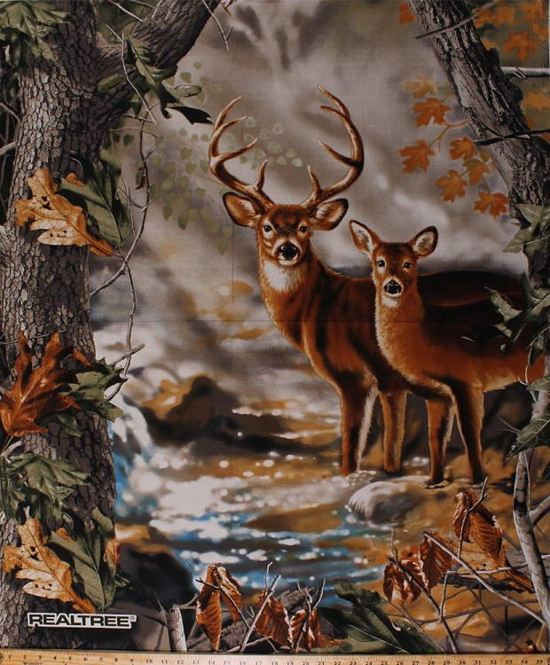36 Quot X 44 Quot Panel Realtree Deer Buck Doe Outdoors Wildlife