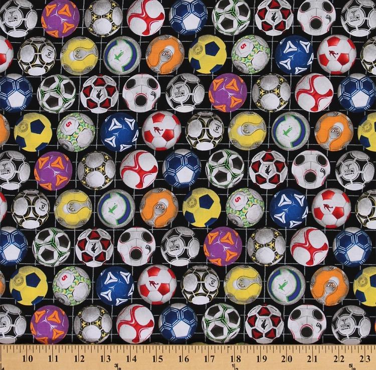 Cotton Sports Soccer Balls Ball Multi Color Cotton Fabric