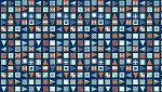 Cotton Nautical Flags on Navy Blue Cotton Fabric Print by the Yard (TP-1239-B)