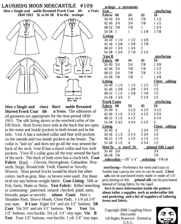 Men's Coat Single Double Breasted Frock Coats With 40 Vests Sewing Interesting Mens Coat Patterns