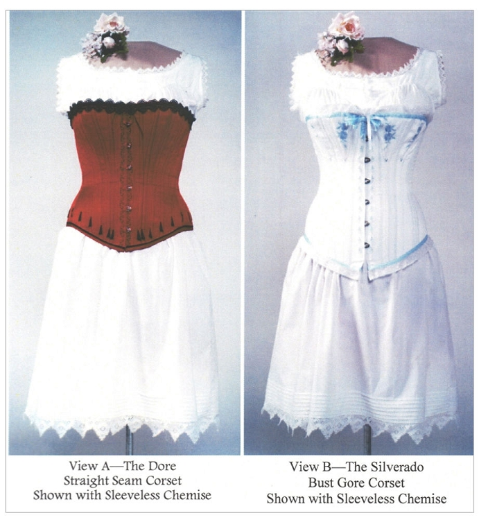 Ladies Victorian Underwear Corset Chemise Drawers 1840-1900 Sewing ...