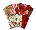 10 Assorted Fat Quarters - Roses Rose Flowers Floral Blooms Buds Stems Flower Garden Red White Pink Quality Cotton Fat Quarter Bundle M492.20