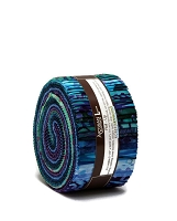 Jelly Roll Artisan Batiks Natural Formations Ocean Colorstory Purple Blue Pink Aqua Quilter's 2.5