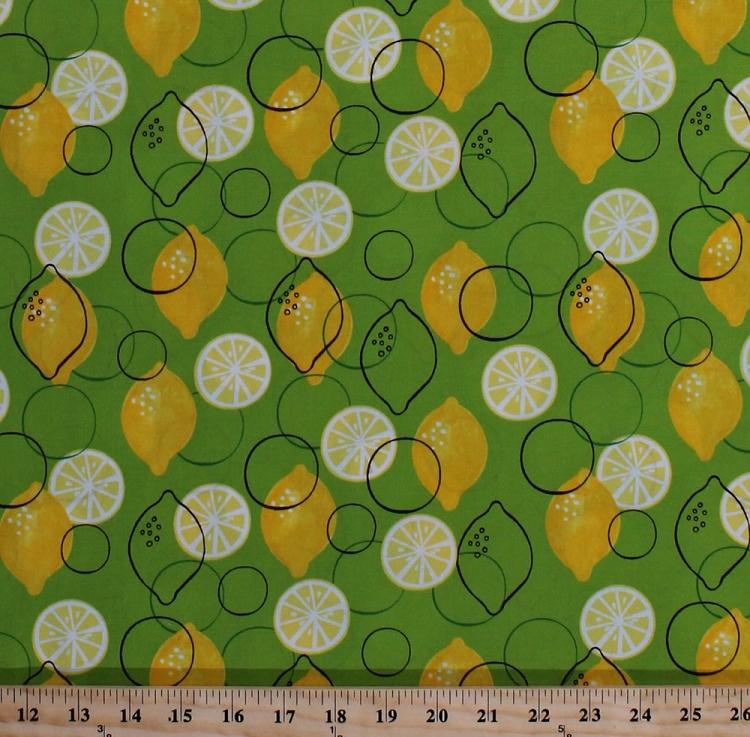 Cotton Metro Market Lemons Lemon Slices Fruit Cotton