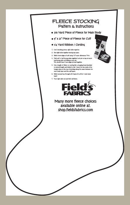 fleece stocking christmas stockings pattern instructions for fleece prints and solids