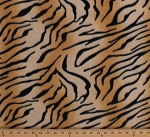 Fleece (not for masks) Tiger Print Animal Print Skin Stripes Tigers Animals Fleece Fabric Print by the Yard (4836P-11A)
