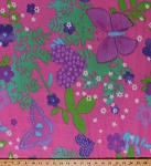 Fleece Butterfly Butterflies Flowers Hearts Stars Children's Girls Pink Fleece Fabric Print by the Yard (5057M-12A-pinkbutterfly)