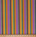 Fleece Colorful Stripes Colors of the Wind George Mandoza Purple Orange Yellow Blue Parallel Stripes Fleece Fabric Print by the Yard (FLGM01-O)