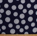 Fleece Volleyballs on Net Purple Sports Fleece Fabric Print by the Yard 3380m-11n-purple