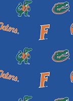 Fleece University of Florida Gators Blue College Fleece Fabric Print by the Yard (fl038)