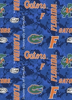 Fleece University of Florida Gators Blue College Fleece Fabric Print by the Yard (fl-1122)