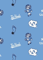 Fleece University of North Carolina Tar Heels Blue College Fleece Fabric Print by the yard (nc-035)
