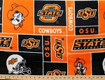 **Imperfect** Oklahoma State University Cowboys College Team Fleece Fabric Print by the Yard (sosu012s)