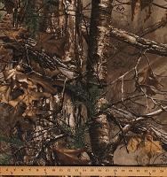 Realtree Xtra Camouflage AP Camo Canvas Weight Bull Denim Twill Fabric Print by the Yard (9467I-11M)