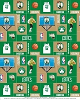 Fleece Boston Celtics NBA Pro Basketball Sports Team Fleece Fabric Print by the yard (s012celtics)