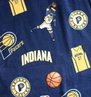 Fleece Indiana Pacers Blue NBA Pro Basketball Sports Team Fleece Fabric Print by the yard (s035pacerss)
