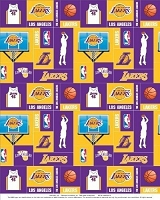Fleece Los Angeles Lakers NBA Pro Basketball Sports Team Fleece Fabric Print by the yard (s012lakerss)