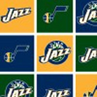 Fleece Utah Jazz NBA Basketball Fleece Fabric Print by the Yard (s83UTA0006Ac)