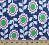 Laguna Cotton Jersey Knit Prints Flowers Navy Fabric by the Yard (aakbf-12870-9)