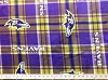 Fleece Baltimore Ravens Plaid NFL Football Fleece Fabric Print by the Yard (s6412df)