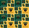 Cotton University of Baylor Bears College Cotton Fabric Print (sbay020s)