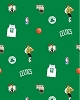 Fleece Boston Celtics Green NBA Basketball Print Fleece Fabric by the Yard #s035celticss
