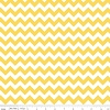 Riley Blake Small Chevron Yellow & White Striped Cotton Fabric Print by the Yard (C340-50)