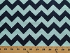 Cotton Blue Chevron Navy and Light Blue Medium Chevrons Chevron Stripes Striped Zig Zags Zigzags Cotton Fabric Print by the Yard (c380-23-navy)