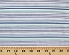 Cotton Dobby Stripe Cotton Azure Stripes on White Cotton Fabric Print by the Yard (cpc-13235-64)