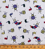 Scrubs Medical Novelty Cartoon Scrub Bugs 2000 Scrub Fabric Print (3007G-12J)