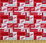 Cotton Detroit Red Wings NHL Hockey Sports Team Cotton Fabric Print by the Yard (840win)