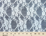 Stretch Lace White Nylon Lycra Fabric 54
