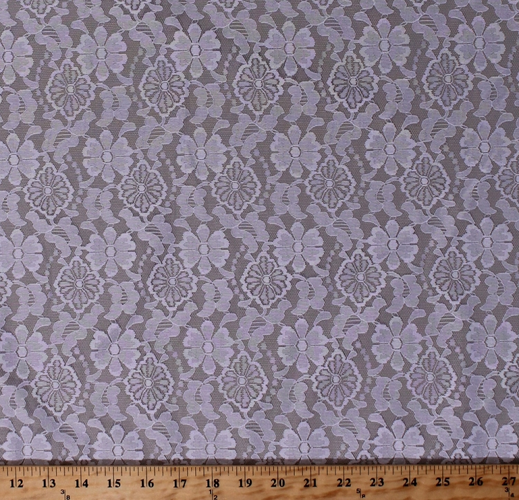 60 Lace Flowers Floral Pure White Bridal Semi Sheer Lace
