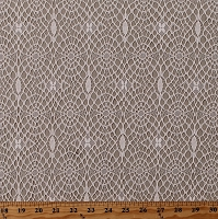 Patterned Lace Ivory Allover Lace Look Soft 60