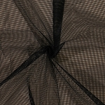 Soft Polyester Black Mesh 1/8