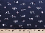 Oshkosh Land Air Sea Cotton Twill Overall Boat Train Plane Fabric Print by the Yard (3489t-5j)