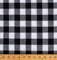Flannel Black and White Buffalo Plaid Check 1