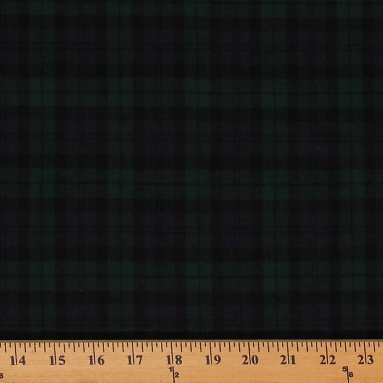 Flannel Black Green Blue Plaid Black Watch 55 Quot Wide Cotton