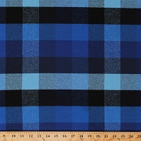 Flannel Plaid Blue and Black 2